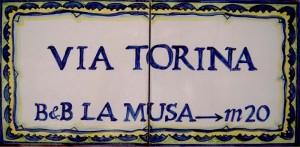 Targa via Torina - inizio Passetiello
