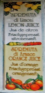 Cartello Lemon juice