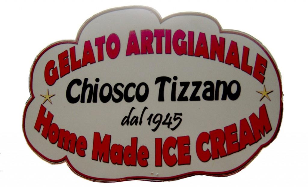 Insegna gelati - Chiosco Tizzano