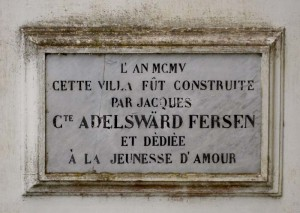 Villa Lysis - Inscription