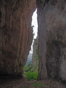 Grotta delle Felci - Grotto of Ferns - the slit