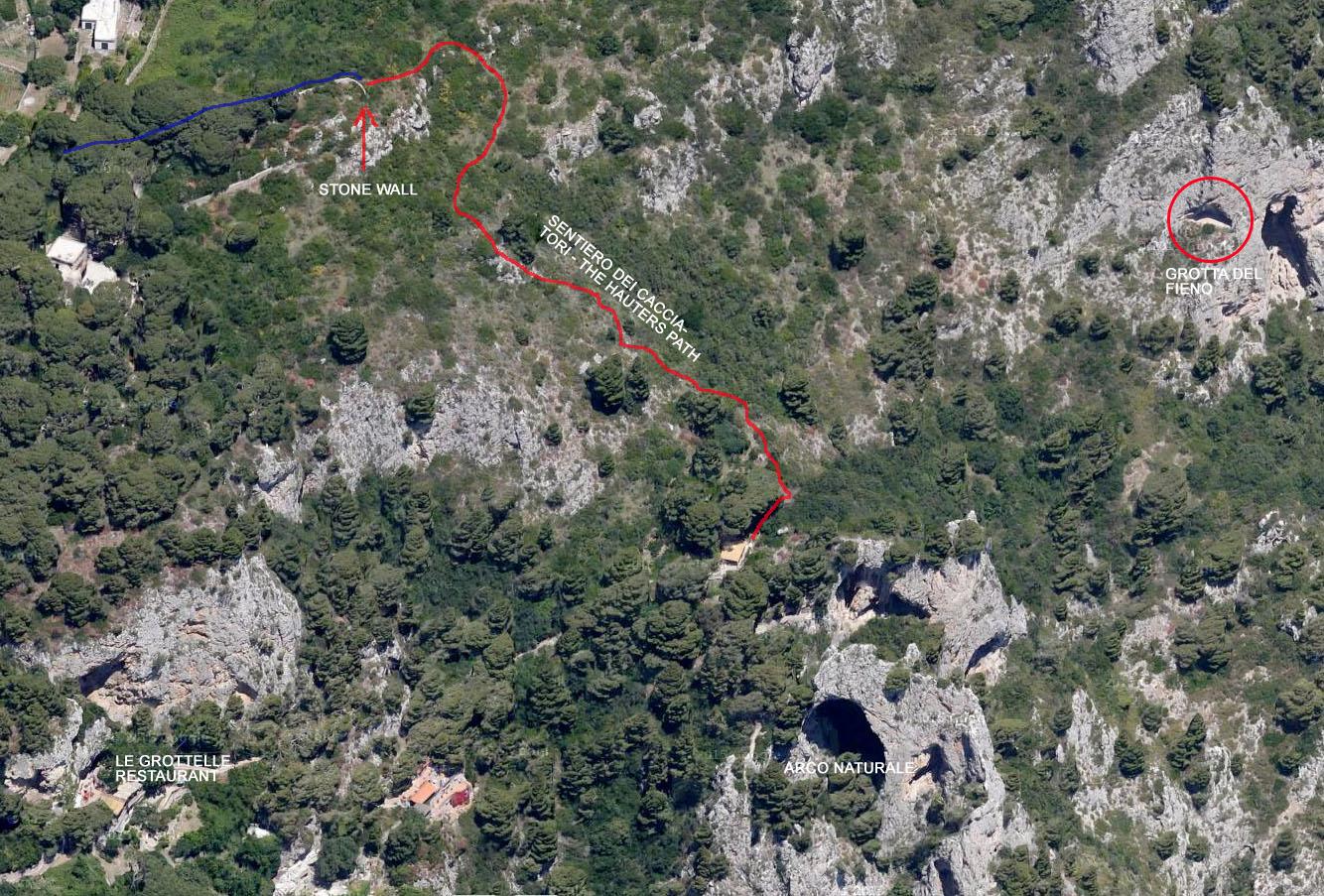 """The """"sentiero dei Cacciatori"""" path - Capri - click to enlarge"""