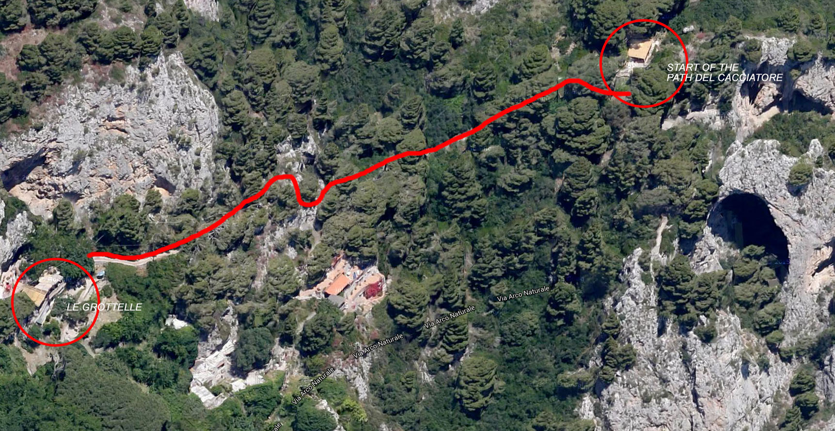 Sentiero dei cacciatori - Mappa 1